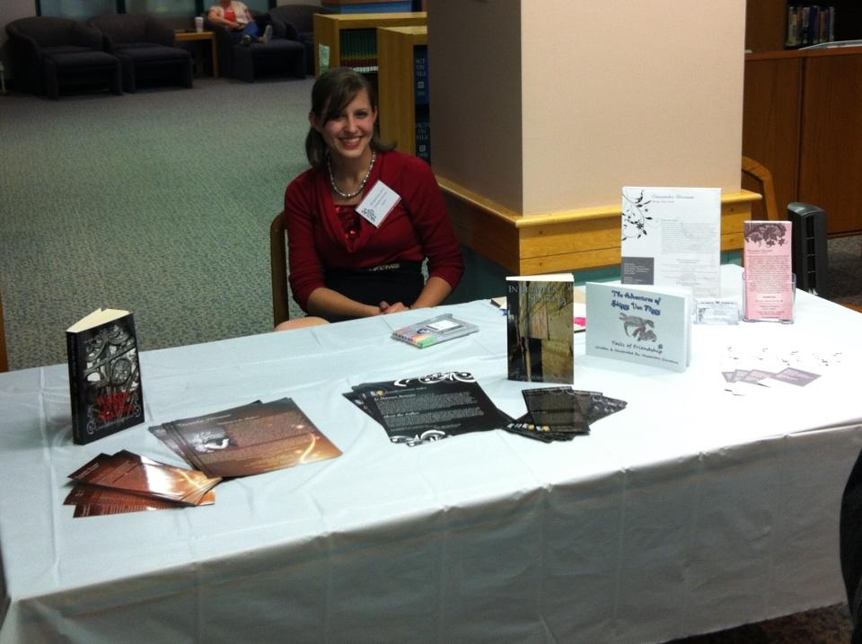 Marketing at a book expo at my Alma Mater.