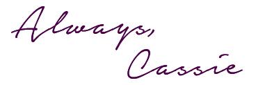 always, cassie