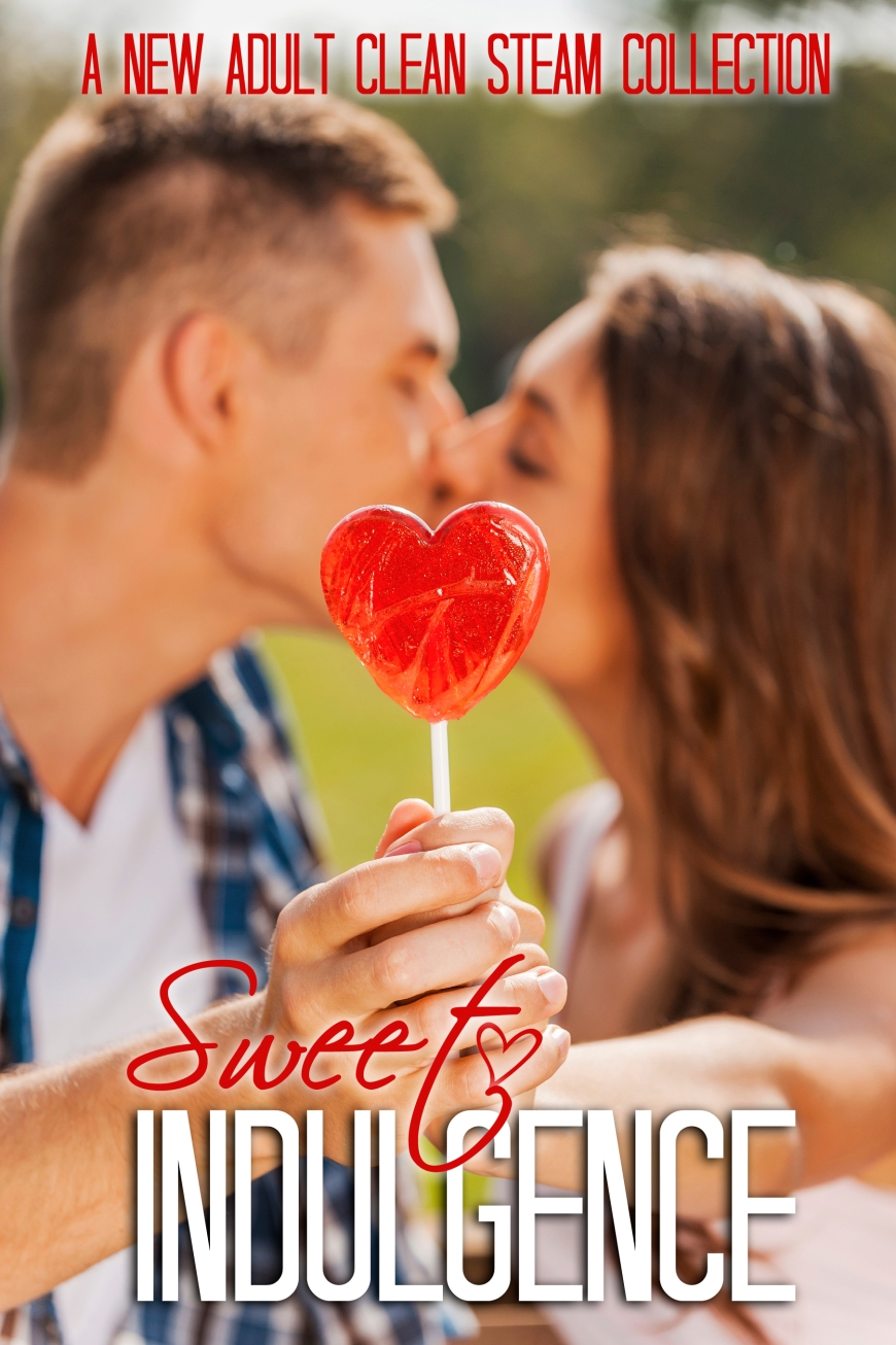 Stealing a kiss behind the lollipop.  Loving couple hiding behin
